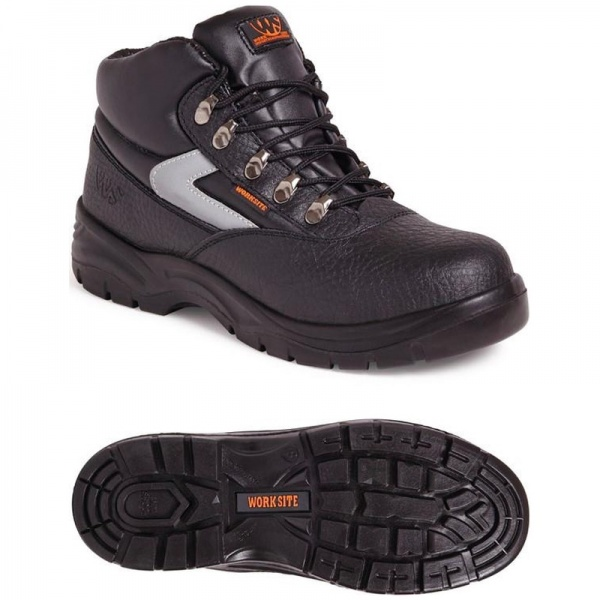 Worksite SS601SM Mid-Cut Safety Boot Black