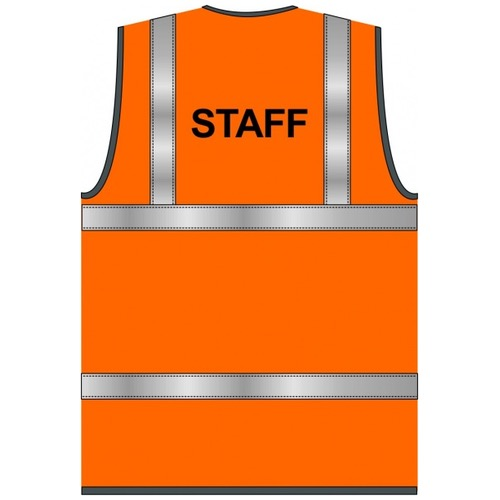 Staff Text Hi Vis Waistcoat Orange