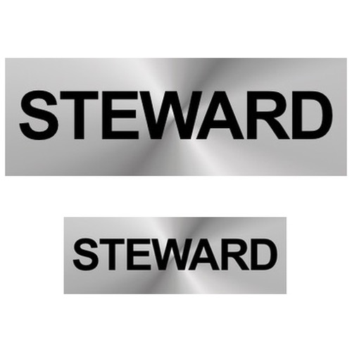 Steward Reflective Badges (Front & Back)