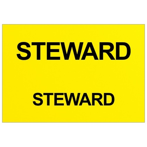 Steward Text Badge (Front & Back)