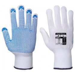 Portwest A110 Nylon Polka Dot Glove - PVC