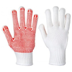Portwest A112 Heavyweight Polka Dot Glove - PVC
