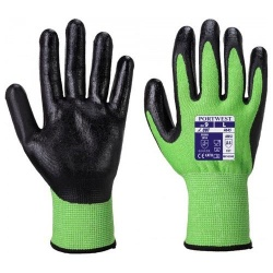 Portwest A645 Green Cut 5 - Nitrile Foam Gloves