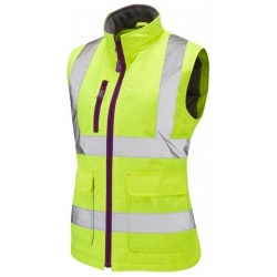 Leo Workwear BWL01-Y Hi Vis SANDYMERE Ladies Bodywarmer Yellow