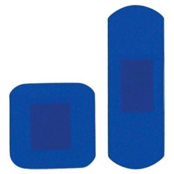 D7032 HypaPlast Blue Detectable Catering Plasters Assorted Pack of 20