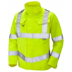 LEO WORKWEAR Yeoford DJ01-Y Class 3 Drivers Jacket Yellow
