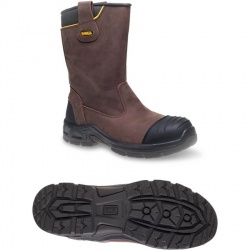 DeWALT Millington S3WR Brown Waterproof Rigger Boot