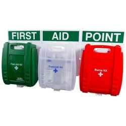 Evolution FAP34 British Standard Compliant Comprehensive Catering Green Case First Aid Point