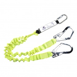 Portwest FP52 Double Elasticated Lanyard With Shock Absorber