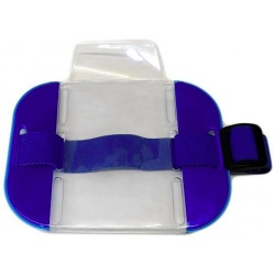 SIA ID Security Armband Large Size Blue