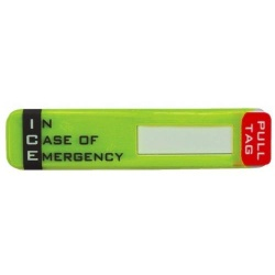 ICE-In Case of EmergencyHard Hat ID Holder Sticker