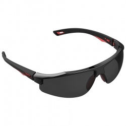 JSP Galactus Tr Safety Spectacles Red Black Frame Smoke Premiershield K and N Rated