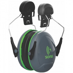 JSP Sonis 1 Helmet Mounted Ear Defenders 26db SNR
