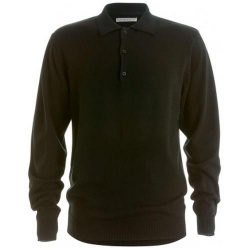 Kustom Kit KK356 Men's Arundel Knitted Polo Shirt Long Sleeve