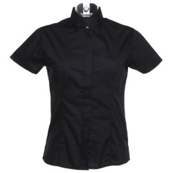 Kustom Kit KK736 Women's Bar Shirt Mandarin Collar Short Sleeve