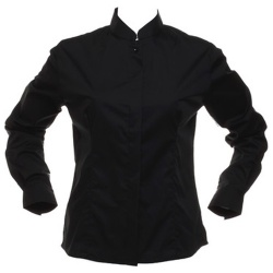 Kustom Kit KK740 Women's Bar Shirt Mandarin Collar Long Sleeve