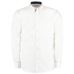 Kustom Kit KK190 Contrast Premium Oxford Shirt Button Down Collar Long Sleeve