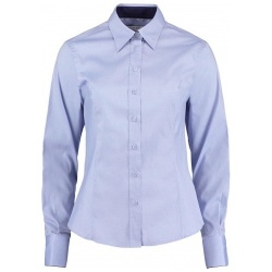 Kustom Kit KK789 Women's Contrast Premium Oxford Shirt Long Sleeve