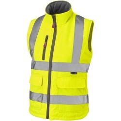 82e58b39702b8 Leo Workwear BWL01-Y Sandymere Hi Vis Ladies Bodywarmer Yellow