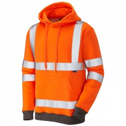 Portwest Hi-Vis Hooded Sweat Shirt High Visible Zipped Jacket Workwear B304 B305