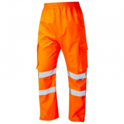 Leo Workwear L01-O Appledore Hi Vis Superior Cargo Overtrouser Orange