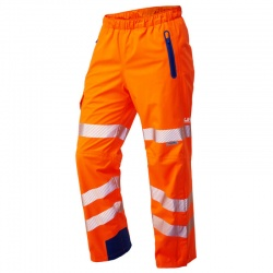 Leo Workwear L20-O Lundy High Performance Waterproof Overtrouser Orange