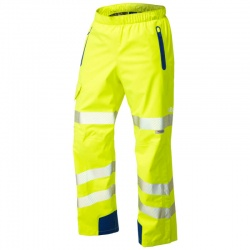 Leo Workwear L20-Y Lundy High Performance Waterproof Overtrouser Yellow