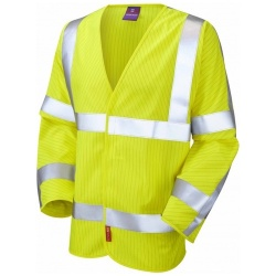 Leo Workwear S17-Y Meshaw ISO 20471 Class 3 LFS Anti-Static Vest Yellow