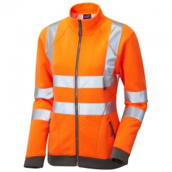 Leo Workwear SSL03-O Hollicombe ISO 20471 Class 2 Womens Sweatshirt Orange