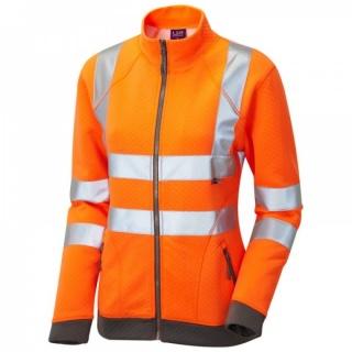 52a5ddbe1df9d Leo Workwear SSL03-O Hollicombe ISO 20471 Class 2 Womens Sweatshirt Orange