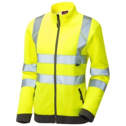Leo Workwear SSL03-Y Hollicombe ISO 20471 Class 2 Womens Sweatshirt Yellow