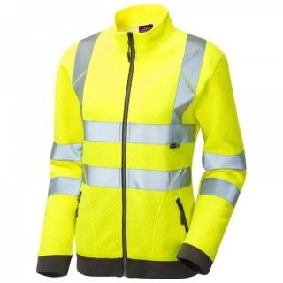 efbacdcb177a4 Leo Workwear SSL03-Y Hollicombe ISO 20471 Class 2 Womens Sweatshirt Yellow