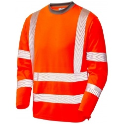 Leo Workwear T08-O Capstone Coolviz Plus Hi Vis T-Shirt Orange