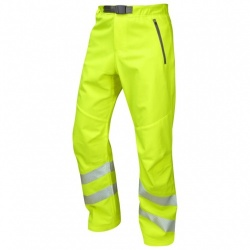 Leo Workwear WT01-Y Landcross Stretch Work Hi Vis Trouser Yellow