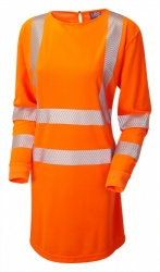 Leo Workwear MT01-O ISO 20471 Class 3 Coolviz Plus Modesty Tunic Orange