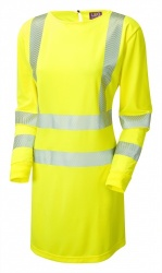 Leo Workwear MT01-Y ISO 20471 Class 3 Coolviz Plus Modesty Tunic Yellow