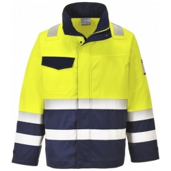 Portwest MV25 Hi Vis Yellow/Navy MODAFLAME Jacket