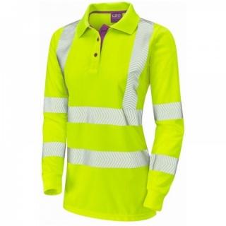 Leo Workwear Capstone Class 3 coolviz plus yellow long sleeve Tee T-shirt