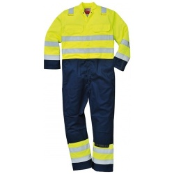 Portwest BIZ7 Hi-Vis Anti Static Bizflame Pro Coverall