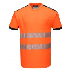 Portwest T185 PW3 Hi-Vis T-Shirt Long Sleeve