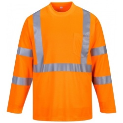 Portwest S191 Long Sleeve Pocket Hi Vis T-shirt