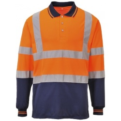 Portwest S279 Two-Tone Long Sleeved Polo Shirt