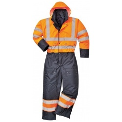 Portwest S485 Hi Vis Contrast Lined Coverall