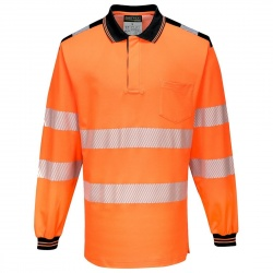 Portwest T184 PW3 Hi-Vis Polo Shirt Long Sleeve