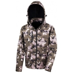 Result Work-Guard R235X Camo TX Performance Hooded Soft Shell Jacket