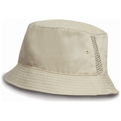 RESULT RC045X Deluxe Washed Cotton Bucket Hat with Side Panel Mesh