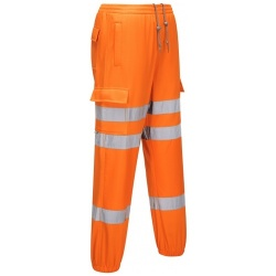 Portwest RT48 Rail Jogging Track Pants Orange