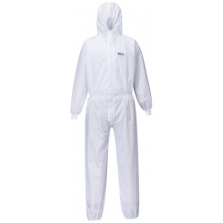 Portwest ST35 BizTex SMS Coverall With Knitted Cuff Type 5/6 (Carton Only 50 Units)