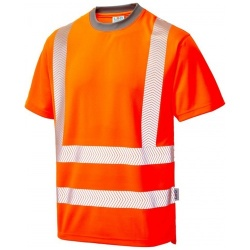 Leo Workwear T03-O Larkstone Class 2 Coolviz Plus T-shirt Orange
