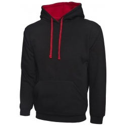 Uneek UC507 Contrast Hooded Sweatshirt 300gsm